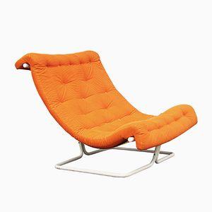 Large Orange Easy Chair, 1970s