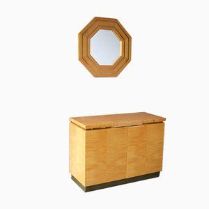 Barschrank und Spiegel von Jean Claude Mahey, 1970