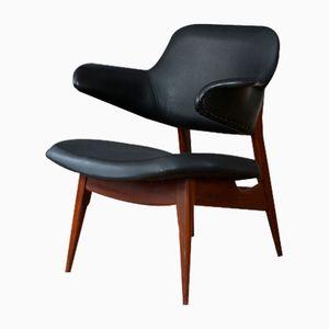 Vintage Teak & Skai Armchair by Louis van Teeffelen for WéBé
