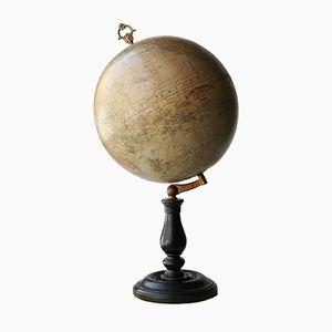 Französischer Globus von J. Lebegue & Cie, 1880er