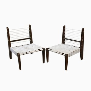 Demountable Chairs by Pierre Jeanneret, 1954, Set of 2