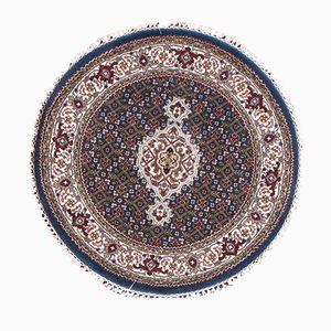 Vintage Tabriz Round Handmade Rug, 1980s