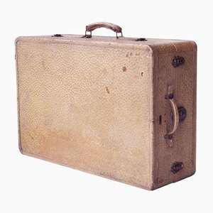 Large Mexican Leather Suitcase from Petacas y Baúles, 1950s