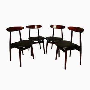 Vintage Type 5912 Polish Dining Chairs from Zamojskie Fabryki Mebli, Set of 4