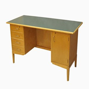 Vintage Desk in Wood with Drawers, 1960s