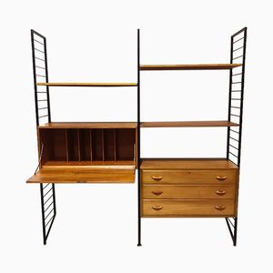 Ladderax Modular System Shelving Unit from Staples, 1960s