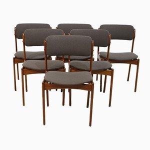 Chaises de Salon en Teck par Erik Buch pour Oddense Maskinsnedkeri A/S, 1960s, Set de 6