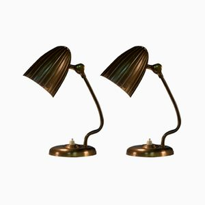Vintage Swedish Grace Table Lamps from Arvid Böhlmark, 1930s, Set of 2