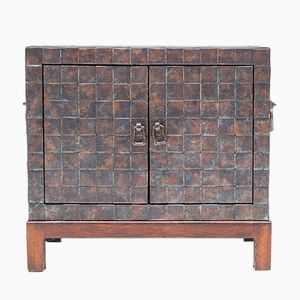 French Copper Patchwork Cabinet, 1981