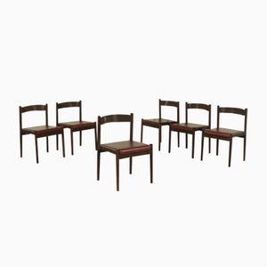 Italienische Vintage Stühle aus Palisander, Schaumstoff & Kunstleder von Cassina, 1960er, 6er Set