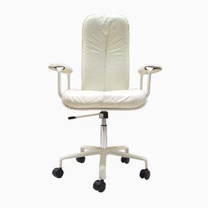 Chaise de Bureau Blanche Vintage par Fred Scott pour ICF Milano