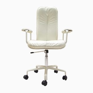 White Vintage Office Chair by Fred Scott for ICF Milano