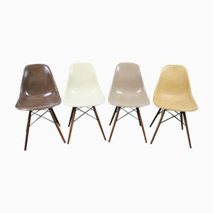 Vintage DSW Fiberglass Side Chairs by Charles & Ray Eames for Herman Miller, Set of 4