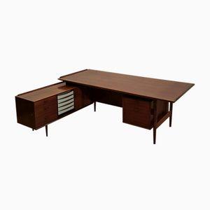Palisander Präsidenten Schreibtisch von Arne Vodder für Sibast, 1960er