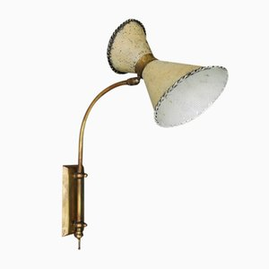 Rotatable and Perforated Wall Lamp, 1950s