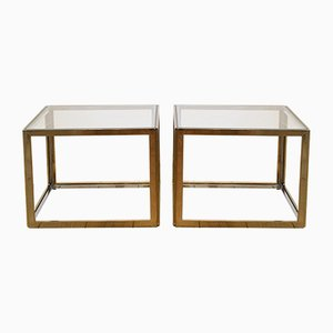 Mid-Century Siver & Gold Coffee Tables from Maison Jansen, 1970s, Set of 2