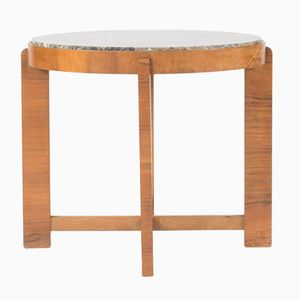 Marble and Mahogany Occasional Table, 1940s