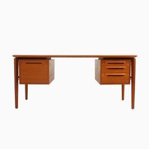 Schwedischer Teak Schreibtisch von Ib Kofod Larsen für Seffle Mobelfabrik, 1960er