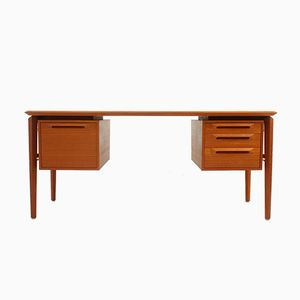 Swedish Teak Desk by Ib Kofod Larsen for Seffle Mobelfabrik, 1960s