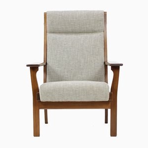 Vintage GE181A High Back Easy Chair by Hans J. Wegner for Getama