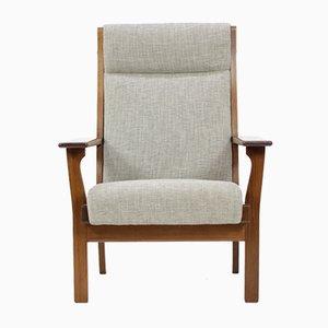 Vintage GE181A Sessel mit Hoher Rückenlehne von Hans J. Wegner für Getama