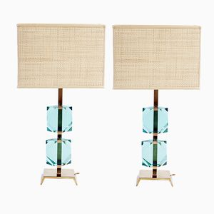 Italienische Tischlampen von Vistosi, 1960er, 2er Set