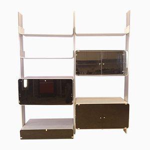 Libreria modulare in alluminio di Michel Ducaroy per Ligne Roset, anni '70