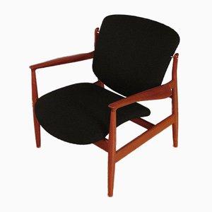 Modell 136 Sessel aus Massivem Teak von Finn Juhl für France & Søn, 1950er