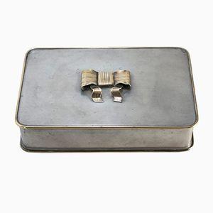 Boîte en Étain & Laiton par Estrid Ericson pour Svenskt Tenn, 1928