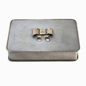Pewter & Brass Box by Estrid Ericson for Svenskt Tenn, 1928