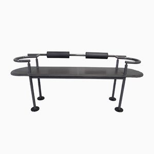 716 Leather Bench by Polflex for Cy Mann for Saccardo, 1986