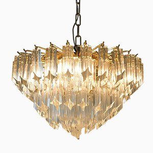 Vintage Murano Glass Quadrilobi Chandelier by Paolo Venini for Novaresi