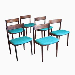 Mid-Century 39 Dining Chairs by Henry Rosengren Hansen for Brande Møbelfabrik, Set of 6