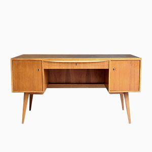 German Wood & Glass Desk, 1950s