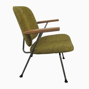 Easy Chair with Wooden Armrests by W.H. Gispen for Kembo, 1950s