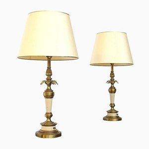 Lampes de Bureau Hollywood Regency de Stiffel, Amérique, 1960s, Set de 2
