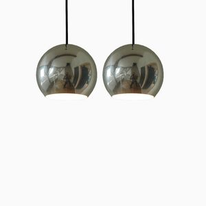 Vintage Topan Aluminum Pendants by Verner Panton for Louis Poulsen, Set of 2