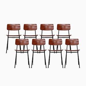 Chaises de Salon Vintage avec Pieds Compas de Marko, Set de 8