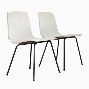 Vintage Papyrus Stühle von Pierre Guariche für Steiner, 2er Set