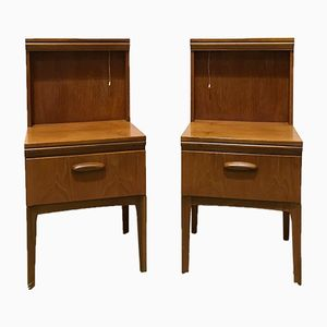 Vintage Bedside Tables from William Lawrence, Set of 2