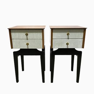 Vintage Space Age Bedside Tables from Limelight, Set of 2