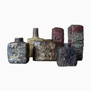 Niederländische Vintage Keramikvasen von Mobach, 6er Set