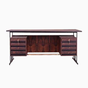 Italian Brazilian Rosewood Writing Desk, 1960s