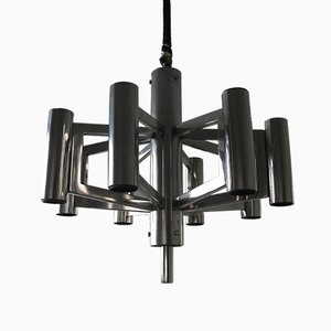 Mid-Century Chrome Chandelier, 1960s