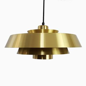 Nova Brass Pendant Light by Jo Hammerborg for Fog & Mørup Denmark, 1960s