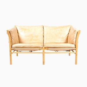 Canapé Ilona Vintage en Cuir Patiné par Arne Norell