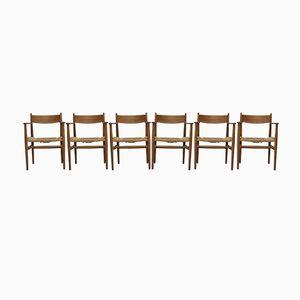 Esszimmerstühle von Hans Wegner für Carl Hansen & Son, 1950er, 6er Set