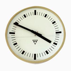 Orologio da stazione ferroviaria vintage di Pragotron, anni '70