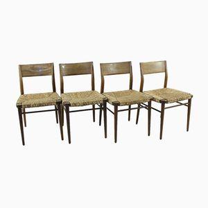 Dänische Vintage Teak Stühle, 4er Set
