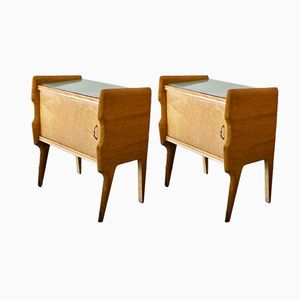 Italian Bedside Cabinets, 1950s, Set of 2